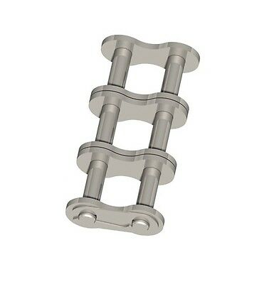 """ANSI/AS Roller Chain 50-3 5/8"""" 15.875mm Stainless Steel No.26 Connecting/ Split"""