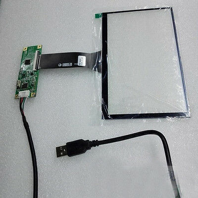 """7"""" inch USB Multi-Capacitive Touch Screen Digitizer Panel for 16:9 TFT LCD Panel"""