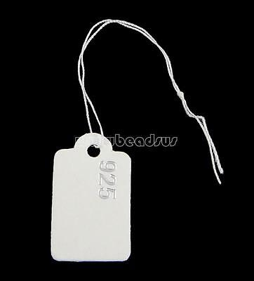 500 Pcs Lable String Strung for 925 Silver Jewelry Paper Price Tags