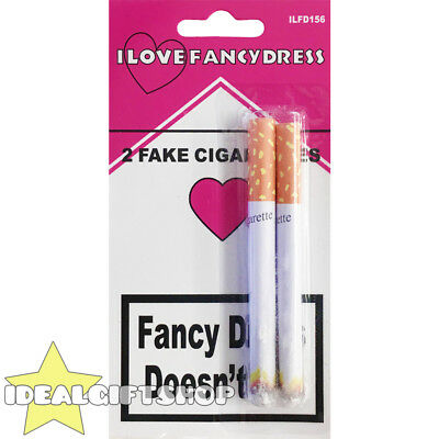 Fake Cigarette Lit Fags Joke Prank Funny Party Novelty Magic Trick 2 Two Pack