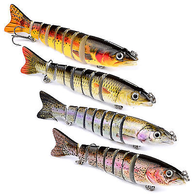 Multi Jointed Pike Fishing Lure Bait Swimbait Bass Baits Crankbaits Hooks Tackle