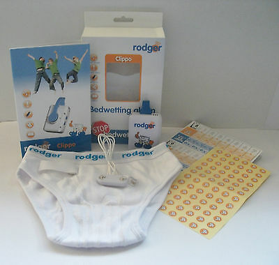 NEW!! Rodger Clippo Bedwetting Enuresis Night or Day Alarm with Rodger Underwear