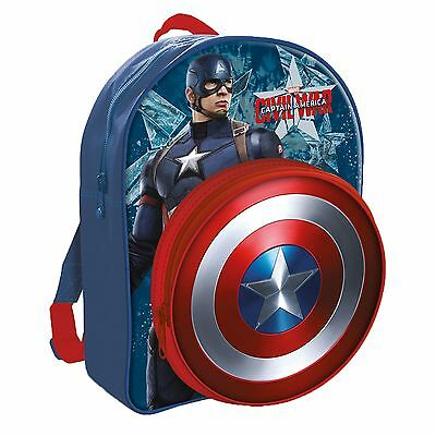 New Captain America Shield School Bag - Backpack - Rucksack From Marvel Avengers