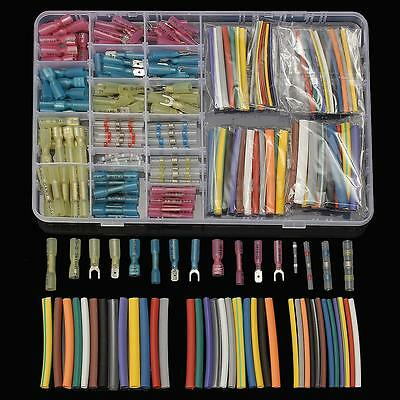 294Pcs Heat Shrink Tube Sleeving Crimp Terminals Electrical Wire Connectors Kit