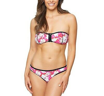 "10 RRP $80 BARGAIN FREE POST BNWT VON ZIPPER LADIES /""REPTILLIA/"" BANDEAU BIKINI"