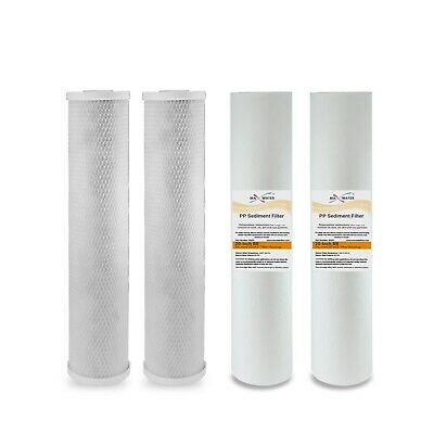 """20"""" x 4.5"""" Big Blue Whole House CTO and String Wound Filter Replacment"""