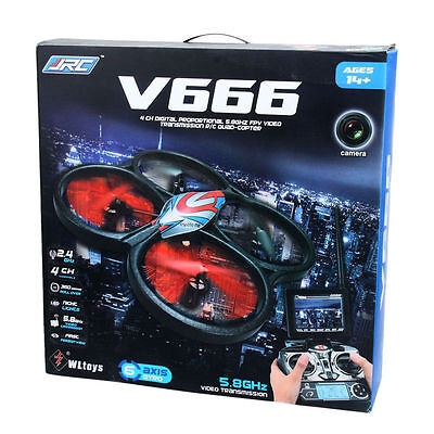 Brand New WLToys V666 RC Quadcopter 2.4G 6 Axis 4CH FPV Drone with Live HD Video