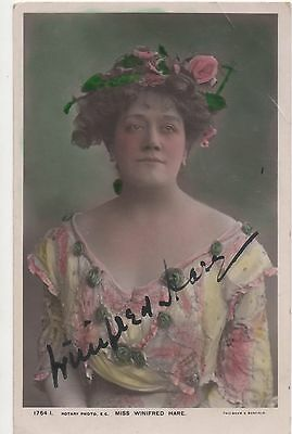 POSTCARD ACTRESSES  Winifred Hare  (Signed)
