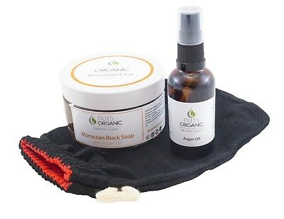 AUTHENTIC MOROCCAN BLACK SOAP WITH  ADDED ARGAN OIL FOR HAMMAM 250g