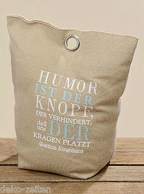 humor ist der knopf der verhindert das t rstopper beig spruch vintage shabby eur 15 90. Black Bedroom Furniture Sets. Home Design Ideas
