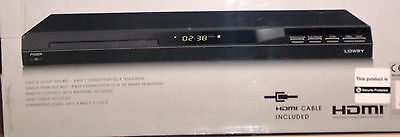 LOWRY UPSCALING DVD PLAYER 1080p SCART With FREE HDMI Lead    GSDVDH0902