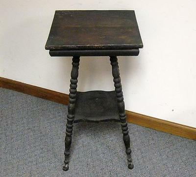 Antique Vintage Wood 2 Tier Side Table Parlor Wooden