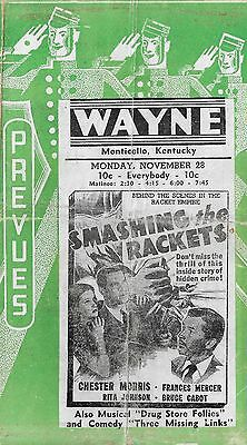 1938 MOVIE HANDBILLS  Chester Morris,Jackie Cooper, Noah Berry SR. and more