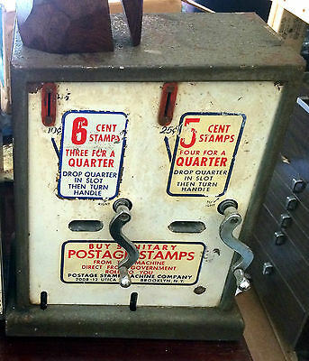 Vintage Postage Stamp Machine Co. NY Vending Machine 6 cents/ 5cents aprox. 1968