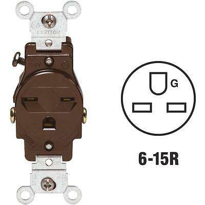 Leviton Brn Single Outlet