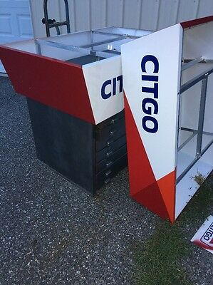 2 Citgo Valence Metal Pieces Gas Station Sign