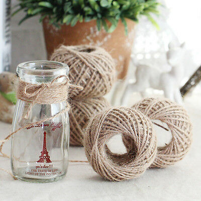 Lot 30M Twisted Burlap Jute Twine Rope Natural Hemp Linen Cord String Crafts 2mm