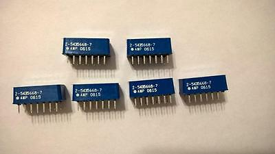 ZMF35 Lot of 6pcs 2-5435668-7 DIP Switch 7Pos Rocker SPST 5VDC 60mA T/H