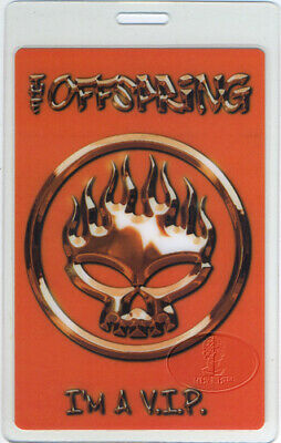 THE OFFSPRING 2001 TOUR Laminated Backstage Pass NUMBERED