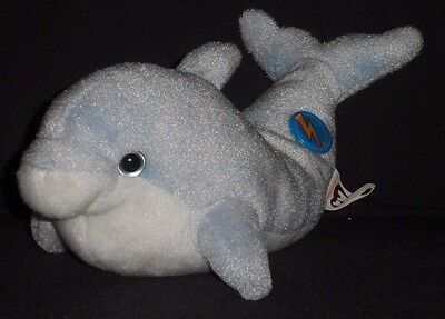 TY CLIPPER the DOLPHIN 2.0 BEANIE BABY - MINT - NO HANG TAG or CODE