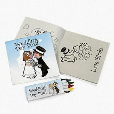 New Wedding Day Fun Children's Activity Colouring Book & Crayons Favour Set