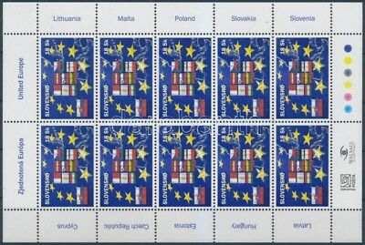 Slovakia stamp Accession to the European Union minisheet MNH 2004 WS164607