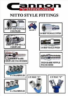 Nitto Style Air Line Fittings Air Hose Reel Compressor Spray Gun