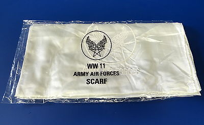 Army Air Forces Pilots Flying Scarf W/embroidered Aaf Insignia
