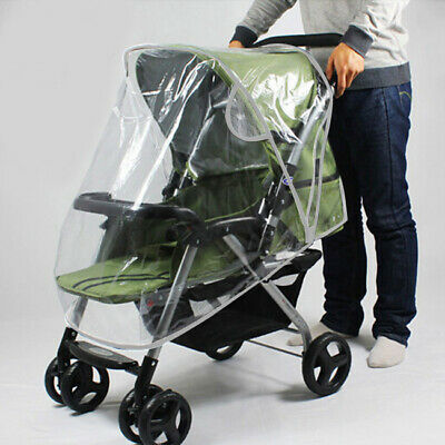New Stroller Rain Cover Kids Infant Pushchair Transparent Windproof Dust Shield