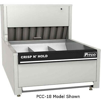 Pitco PCC-18 Crisp N Hold Countertop French Fry Warmer 3 Sections