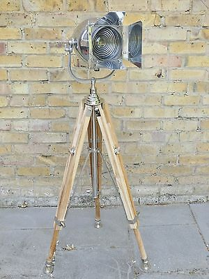 VINTAGE FILM LAMP INDUSTRIAL ANTIQUE ART DECO ALESSI THEATRE CINEMA LIGHT 50s