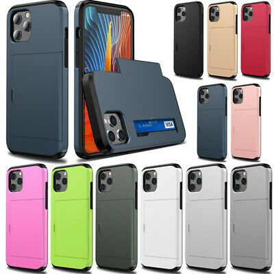 Shockproof Credit Card Holder Wallet Phone Case Cover For iPhone 7 7 Plus 6 Plus