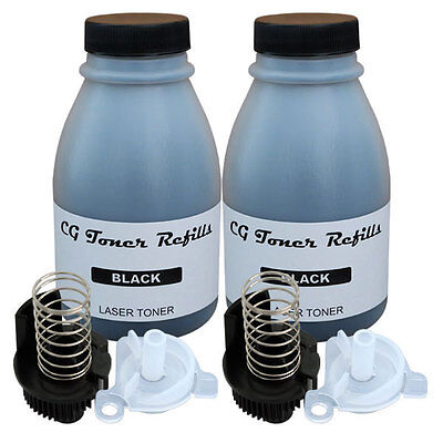 2 x 100g Toner Refill for Brother TN-630 TN-660 DCP-L2520DW with 2 reset gears