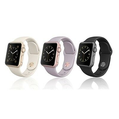 Apple Smart Watch 38mm Aluminum Ion-X Glass Case with Sport Band
