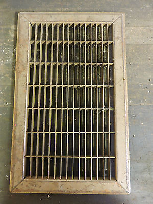 Vintage 1920S Iron Heating Grate Rectangular Design 15.75 X 9.75 A