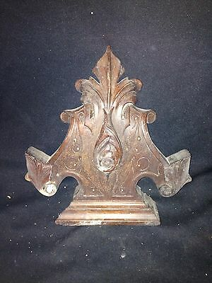 "1930's 11 1/8"" Carved Wood Pediment"