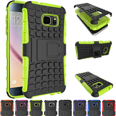 Shockproof Hybrid Rubber Protective Rugged Stand Case Cover For Samsung Galaxy