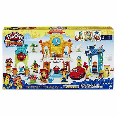 New Hasbro Play-Doh Town 3-In-1 Town Center B5868 Playdoh Centre