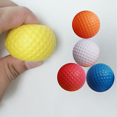 1x Golf Ball Exercise Stress Relief Squeeze Elastic Soft Foam Ball 5 Colors EW