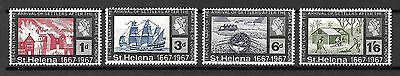 St. Helena Sc#197-200 MNH Arrival of Settlers After London Fire 1666