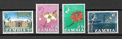 Zambia Sc#22-5 MNH 1st Anniv of Independence, Oct 1965