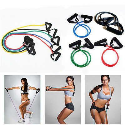 1&8 Type Fitness Equipment Resistance Bands Tube Workout Exercise Yoga Training
