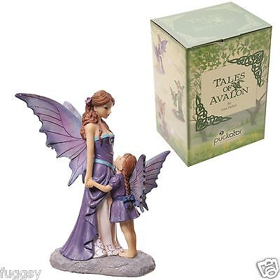 TALES OF AVALON Amethyst Guardian Mother Daughter Fairy Lisa Parker Ornament NEW