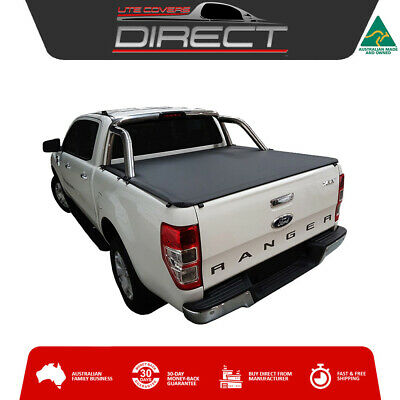 Ford Ranger PX2 XLT June2015-2017 Dual Cab Ute ClipOn Tonneau Cover-suits S/Bars