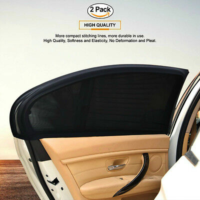 Car Window Sun Shade (2 Pack) – Universal Sock Shades Cover with UV Protection