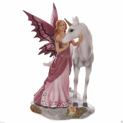TALES OF AVALON Mystical Friend Fairy & Unicorn Lisa Parker Ornament NEW