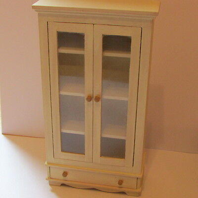 Kitchen Display Cupboard with Glazed Doors - Dolls House Miniature
