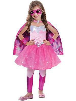 Barbie Super Power Princess Licensed 3-7y Girls Childs Kids Fancy Dress Costume
