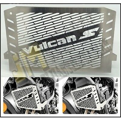Radiator Grille Grill Cover Steel for Kawasaki VULCAN S EN650 2015-2016 Silver
