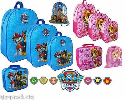 PAW PATROL Kids Boys Girls School Backpack Gym SKYE Lunch Box Bag Rucksack Large